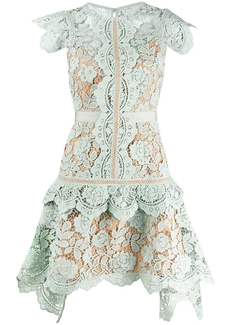 Self Portrait embroidered floral dress