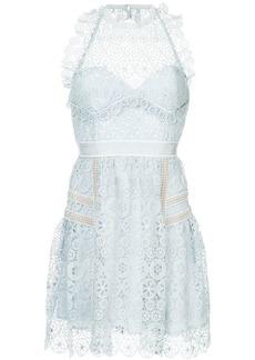 Self Portrait embroidered lace mini dress