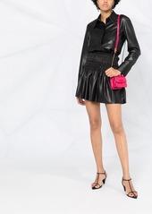 Self Portrait faux leather skirt