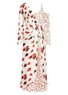 Self Portrait Floral Asymmetric Dress