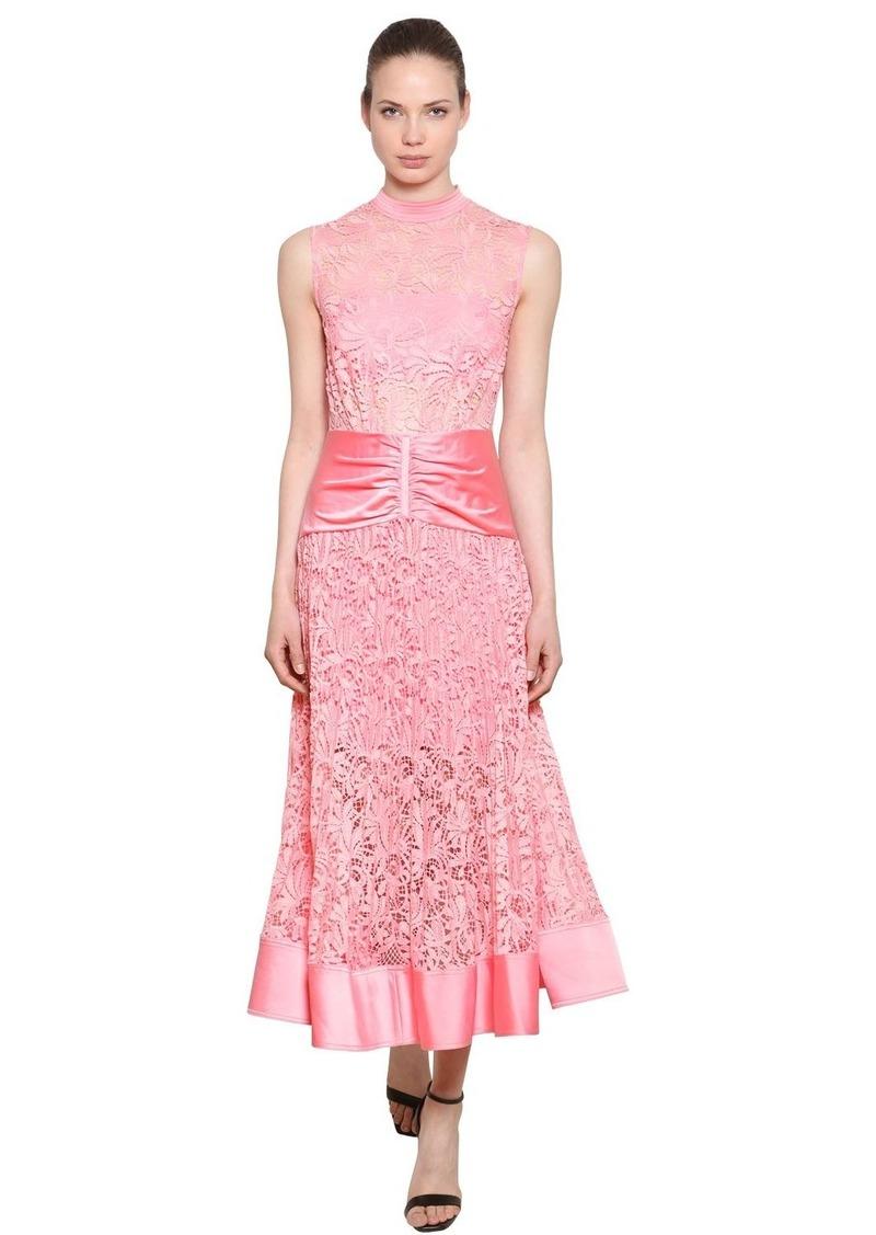 5269e1a373d74 Self Portrait Floral Lace & Satin Midi Dress | Dresses