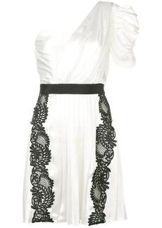 Self Portrait floral lace inserts dress