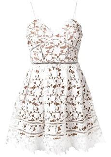 Self Portrait floral lace mini dress