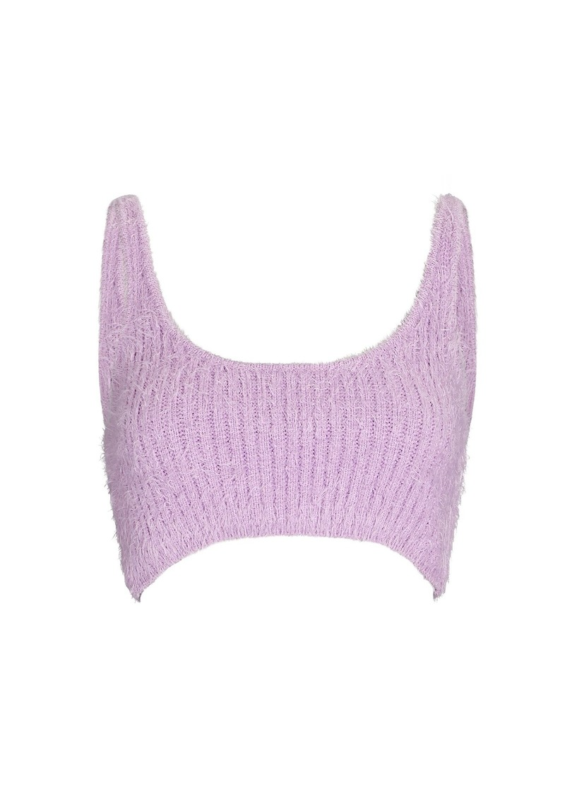 Fluffy Knit Crop Top