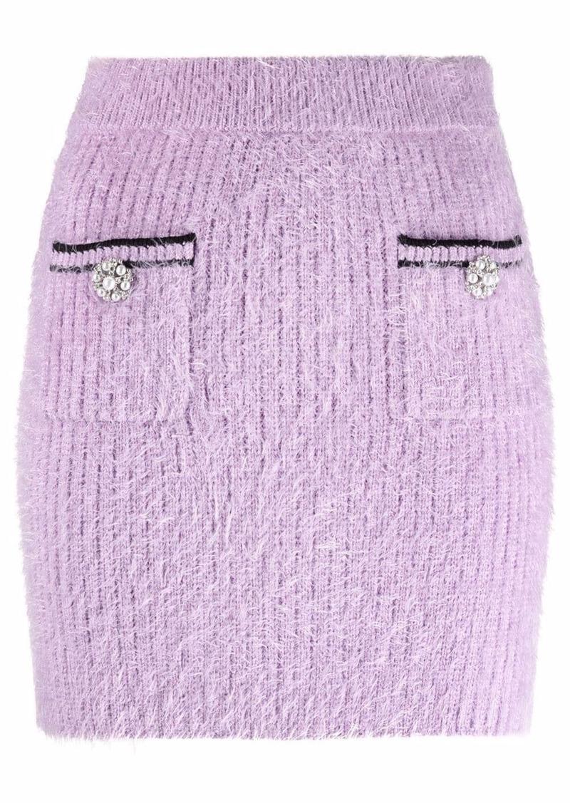 Self Portrait fluffy mini skirt