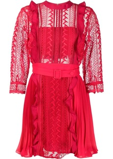 Self Portrait geometric lace dress