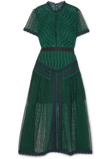 Self Portrait Guipure Lace Midi Dress