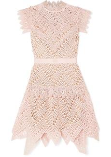 Self Portrait Guipure Lace Mini Dress