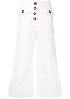 Self Portrait high waist flared trousers