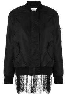 Self Portrait lace back bomber jacket