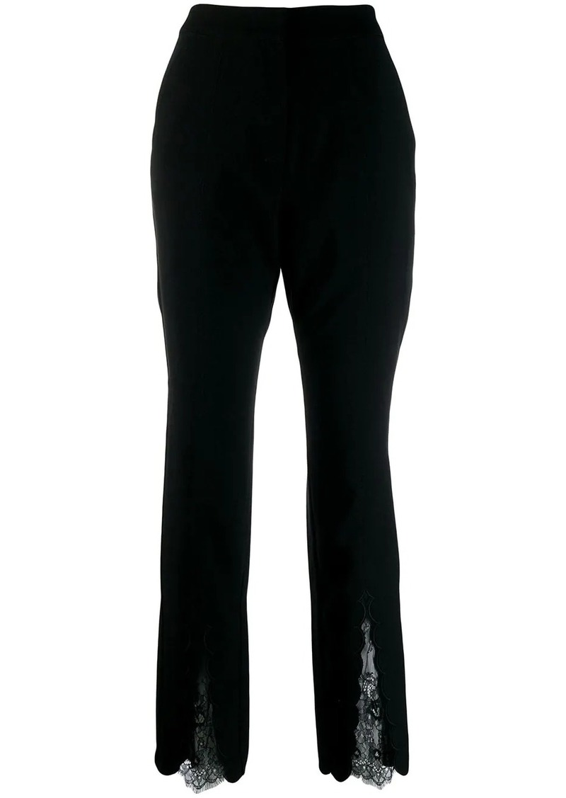 Self Portrait lace insert trousers