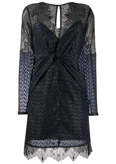Self Portrait lace knot front dress