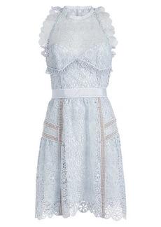 Self Portrait Lace Mini Dress