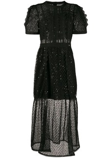 Self Portrait lace-panel midi dress