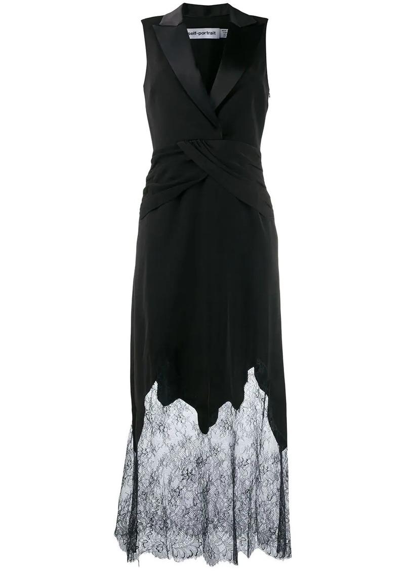 Self Portrait lace tuxedo dress
