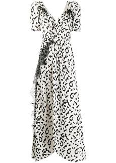 Self Portrait leopard print long dress