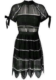 Self Portrait mesh knit dress
