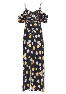 Self Portrait Cold Shoulder Floral Dress