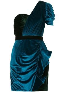 Self Portrait one-shoulder draped mini dress