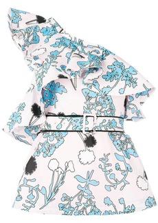 Self Portrait one-shoulder floral top
