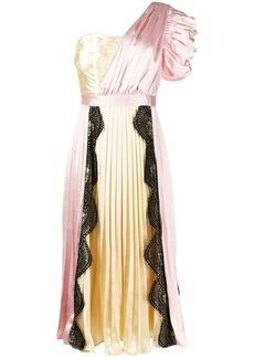 Self Portrait one-shoulder midi dress