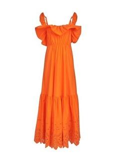 Self Portrait Orange long dress