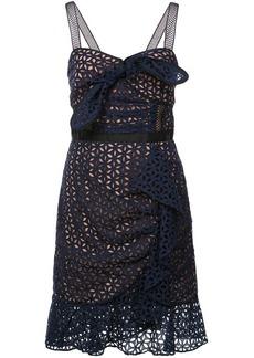 Self Portrait petal broderie anglaise dress