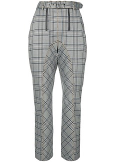 Self Portrait plaid tailored trousers