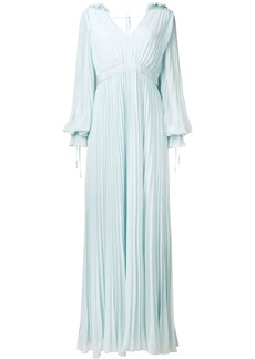 Self Portrait pleated evening gown