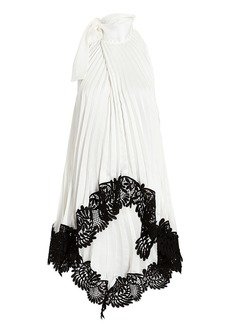 Self Portrait Pleated Lace Top