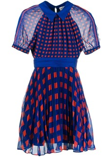 Self Portrait printed pleated dress