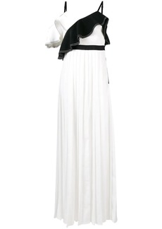 Self Portrait ruffled trim maxi dress
