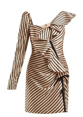 Self portrait self portrait asymmetric striped satin mini dress abv3a29c4eb a