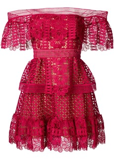 Self Portrait bardot crocheted dress