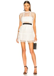 Self Portrait self-portrait Circle Floral Lace Tiered Mini Dress