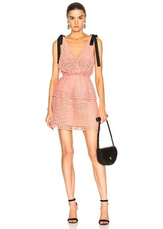 Self Portrait self-portrait Cutwork Mini Dress