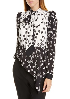 Self Portrait Self-Portrait Daisy Print Asymmetrical Top