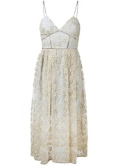 Self Portrait embroidered bustier dress