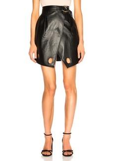 Self Portrait self-portrait Faux Leather Wrap Skirt