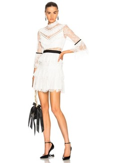 Self Portrait self-portrait Fine Lace Mini Dress