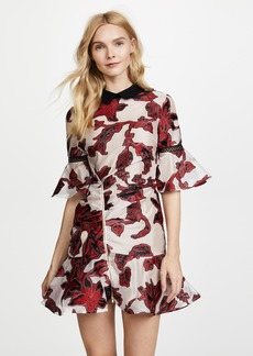 Self Portrait Floral Fil Coupe Dress