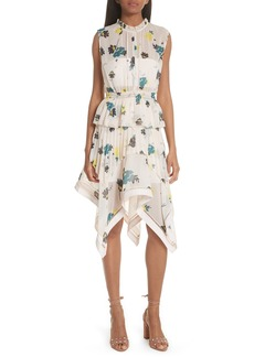 Self Portrait Self-Portrait Floral Handkerchief Hem Dress
