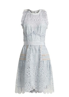 Self Portrait Self-portrait Floral-lace halterneck minid ress