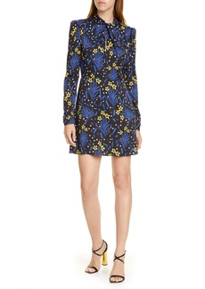 Self Portrait Self-Portrait Floral Long Sleeve Jersey Crepe Minidress