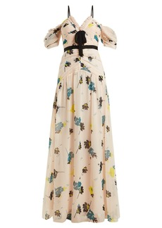 Self Portrait Self-portrait Floral-print chiffon maxi dress