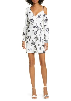 Self Portrait Self-Portrait Floral Sequin Asymmetrical Long Sleeve Dress