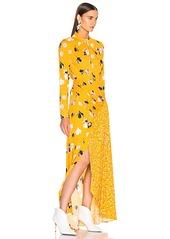 Self Portrait self-portrait Floral Twist Neck Maxi Dress