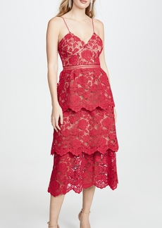 Self Portrait Flower Lace Midi Dress
