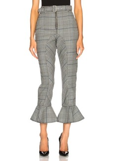 Self Portrait self-portrait Frilled Check Trousers