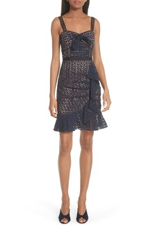 Self Portrait Self-Portrait Knot Front Broderie Anglaise Dress